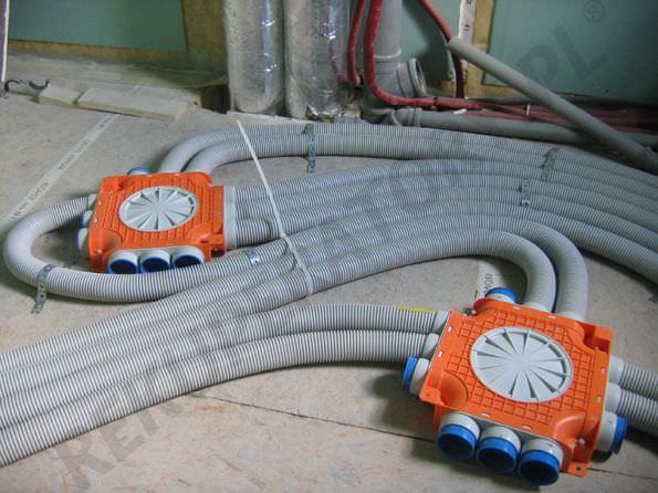 instalacja rekuperacji do zalania w posadzce