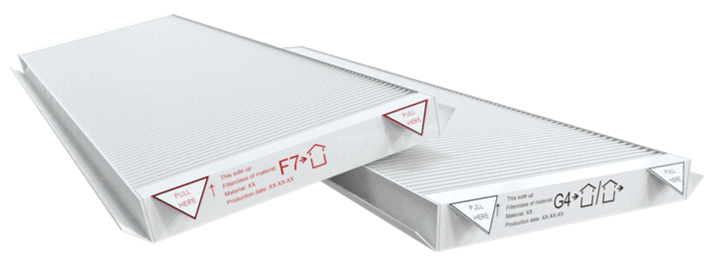 filtry do rekuperatora G4 F7
