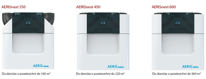 rodzaje rekuperatorow aeris next