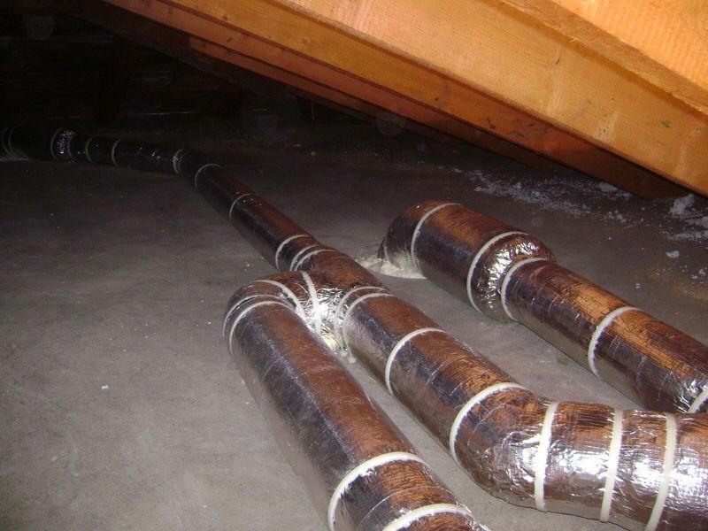 kanaly wentylacyjne na poddaszu