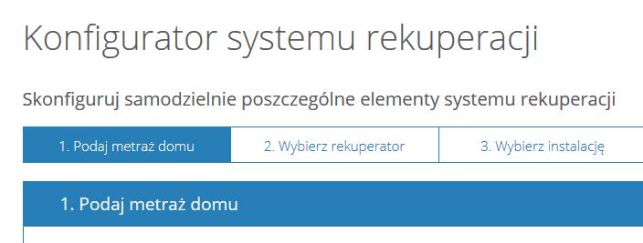 konfigurator rekuperacji