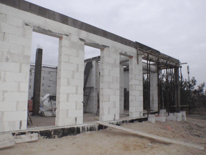 etap budowy ściany i rekuperacja